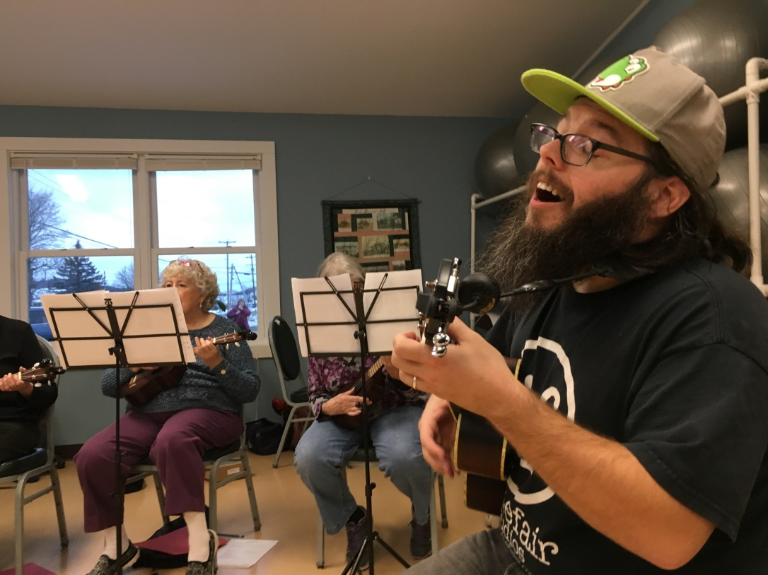 Ukulele sharing, Haverhill, NH I Tiny Village Music